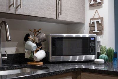 sharp launches its first smart countertop microwave ovens