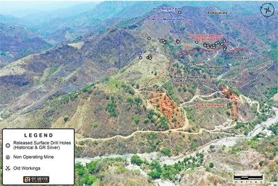 Figure 2: Drone Image Plomosas Mine – Local Geology Showing Argillic Altered (Clay-rich) Zones (CNW Group/GR Silver Mining Ltd.)