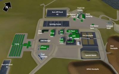 Figure 5 – Rook I Feasibility Site Layout (CNW Group/NexGen Energy Ltd.)