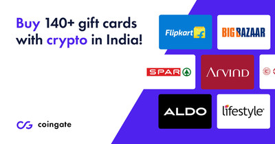 Buy Cryptocurrency Gift Cards India CoinGate