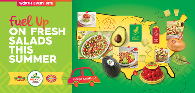 Fuel up on fresh salads this summer with the help of Avocados From Mexico, NatureSweet® Tomatoes and Shuman Farms RealSweet® Vidalia® Onions.
