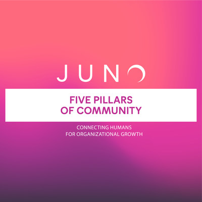 Five Pillars of Community is the latest ebook from JUNO for leaders of member-driven organizations, associations and their engagement, membership, marketing and events professionals.