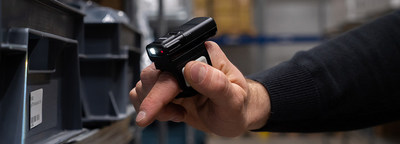 The wearable RS60 Ring Scanner is a comfortable hands-free scanning solution for use in warehouses, retail, distribution and other situations requiring highly mobile scanning. (PRNewsfoto/Handheld Group AB)