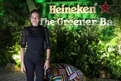 Italian DJ Anfisa Letyago played at the Heineken® Greener Bar in Milan on Friday night to celebrate the start of the weekend's racing action at the Formula 1 Heineken Gran Premio d'Italia 2021