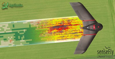 The eBee SQ agricultural drone powered by Agribotix FarmLens gives users the unique ability to perform the full crop scouting workflow in the field: fly large areas efficiently, capture ground truthing images, make notes, and share detailed information about trouble spots with farmers from the field. FarmLens users gain valuable insights about crop conditions without having to become experts in data processing.