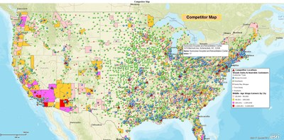 SpatialTEQ Inc 's Map Business Online Picked by Dow Jones for