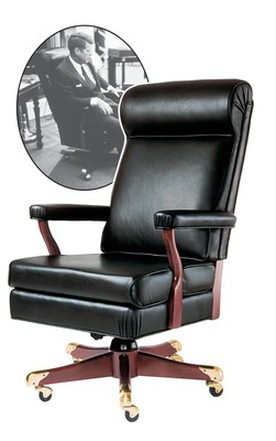 oval office chair cheap accent chairs under 50 gunlocke marks centennial of john fitzgeral kennedy with