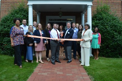 RiverMend Health's new Atlanta-based Addiction Recovery Center Ribbon Cutting Front row, left to right: Ashley Buffington, LPC, MS - Lead Therapist; Angela Dainas, M.Ed, LMFT – Therapist; Catherine Baer, MS, MS, LPC – Clinical Director; Daniel Lettenberger-Klein, MS, LMFT – Executive Director; Edmund Bujalski – CEO; Stacy Seikel, MD – Medical Director