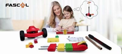 Fascol Lego DIY Splicing Scooter