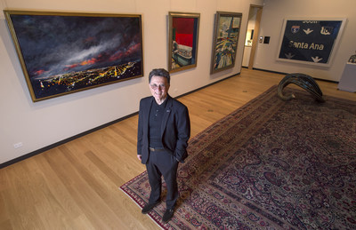 """This gift instantly puts UCI on the map as the premier collection and study center at the heart of California art,"" says Stephen Barker, dean of UCI's Claire Trevor School of the Arts and executive director of the UCI Museum and Institute for California Art, pictured with pieces from the Buck Collection. Steve Zylius/UCI"