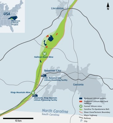 Piedmont Lithium Additional Land Option and Purchase Agreements