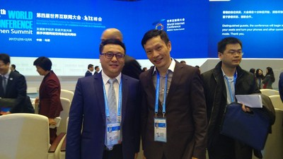Lei Chen, CEO of Xunlei Ltd. (2nd from the left)