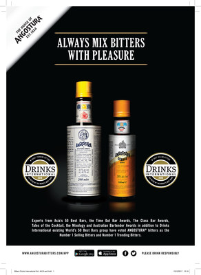 Angostura® bitters are the World's Top Selling and Trending Bitters (PRNewsfoto/Angostura Holdings Limited)