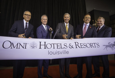 Omni Louisville Hotel Celebrates Ribbon Cutting And Opens