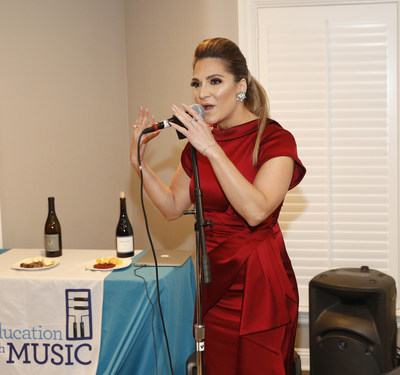 Shoshana Bean (Recording Artist, Wicked, Hairspray) dressed in Karen Millen performs at Education Through Music-LA's 4th Annual Music & A Makeover Benefit on March 10, 2018. etmla.org Photo Credit: Danny Moloshok