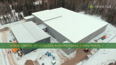 Aerial Image of Acreage Pharms Phase 1 and Phase 2 (CNW Group/Invictus MD Strategies)