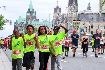 Young people participating in the Scotiabank Charity Challenge (CNW Group/Scotiabank)