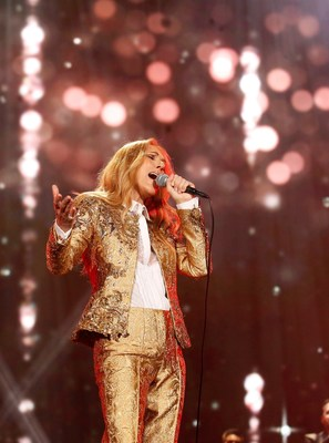 Celine Dion during her spectacular two-hour performance inside the Tokyo Dome
