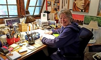 Jan Morrison of Book Lover's Lark creating slice a serenity.