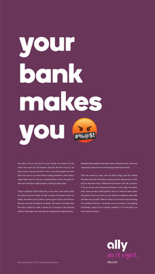 Ally Bank Launches New Ad Campaign For 4th National Online Bank Day Encouraging Consumers To Expect More From Their Banks