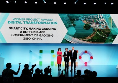 Gaoqing en China ganó el Digital Transformation Award (PRNewsfoto/Huawei)