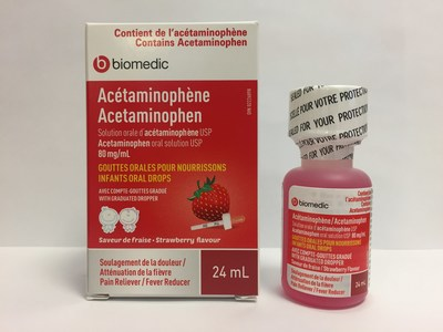 Advisory - Strawberry-flavoured acetaminophen infant oral drops in 24 mL bottles recalled because of defective child-resistant safety caps