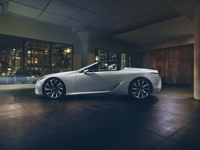 "An open-air roadster that is an artful reflection of the LC coupe, the design goal of the Convertible Concept was the expression of ""ultimate beauty""."