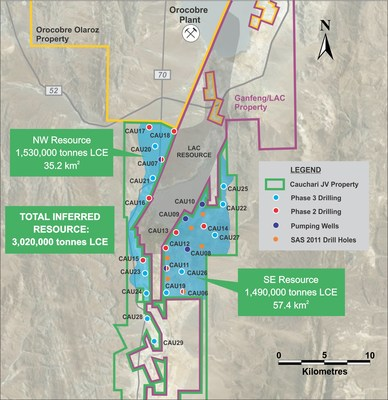 Figure 1: Location of CAU07 in the NW Sector (CNW Group/Advantage Lithium Corp)