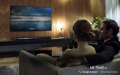 New in 2019, LG OLED TVs add Amazon Alexa support to complement the Google Assistant which is already built-in, making LG the only TV brand to provide support for both leading voice assistant platforms without the need for additional hardware.