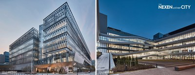 Panoramic view and Courtyard view of 'THE NEXEN univerCITY' (Source (C)L2 ARCHIVE)