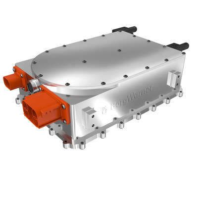 BorgWarner's new Onboard Battery Charger converts AC electricity to DC for charging batteries in hybrid or electric vehicles.