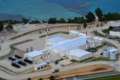 Aerial view of Space Fence facility in Kwajalein Atoll. Lockheed Martin photo