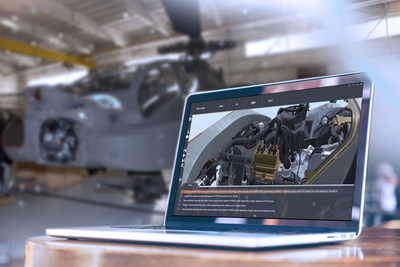 Lockheed Martin's RELY3D(R) tool offers interactive training and features that support the reduction of maintenance time on Apache helicopter sensor systems.