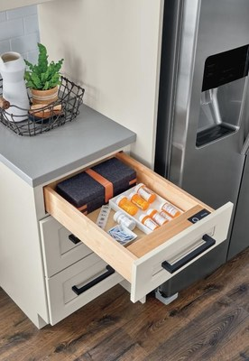 Biometric Secured Drawer From Diamond Cabinets Keeps Items