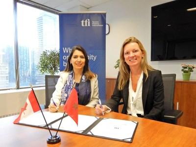 Manal Bernoussi, Strategy, Marketing & Communications Director of CFC and Jenifer Reynolds, CEO of TFI