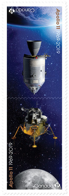 Apollo 11 stamps (CNW Group/Canada Post)