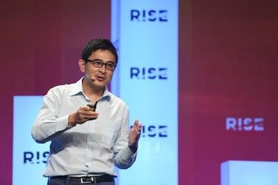 Fischer Chen, CFO of Hellobike, speaks at RISE 2019