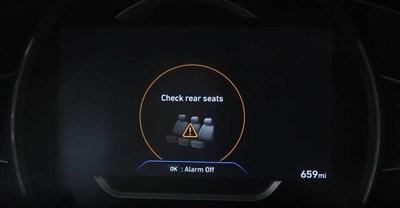 Hyundai to Make Rear Occupant Alert Standard By 2022