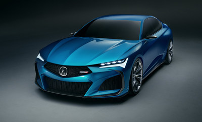 The Type S Concept sets the stage for re-introducing Type S performance variants to the Acura line-up after a decade hiatus, and will heavily influence the character of the upcoming, second-generation TLX Type S.