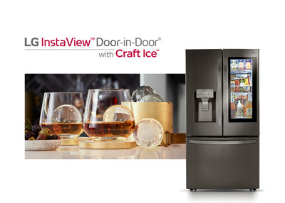 Lg Brings Slow Melting Round Craft Ice To Flagship Instaview Refrigerators