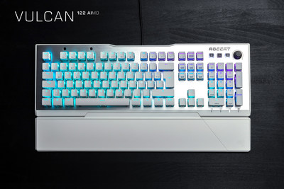The Vulcan 122 AIMO is the Arctic White version of the original award-winning Vulcan 120 AIMO mechanical PC gaming keyboard. Available at participating retailers for a MSRP of $159.99.