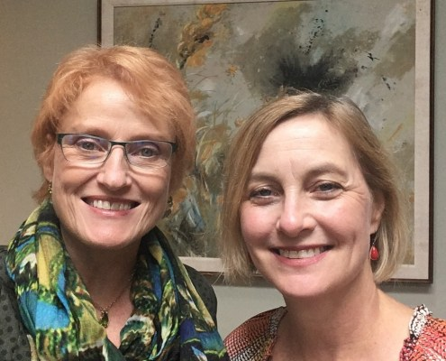 "Betty Folliard (host of AM 950's ""A Woman's Place"") and the M's ED Kristin Makholm"
