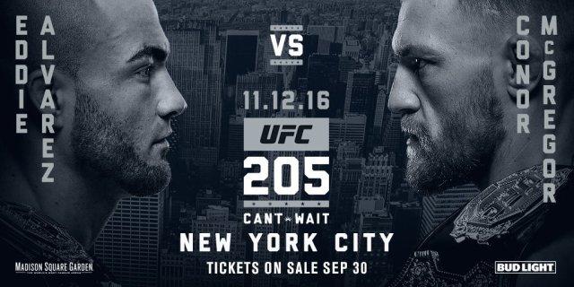 conor McGregor Eddie Alvarez UFC New York