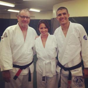 Maxim Host Aja Dang Learns Jiu Jitsu With Ed O'Neill