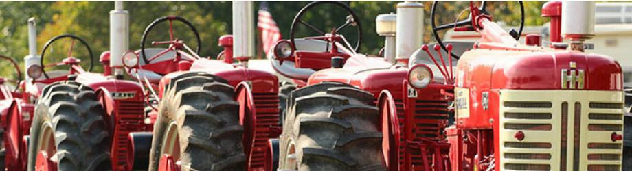 Clio Michigan - Antique Tractor Club Red Tractor Displays