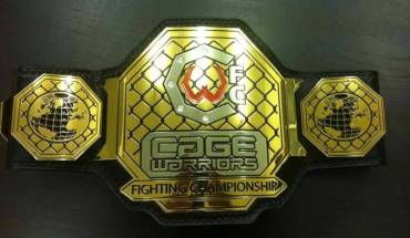 Cage Warriors championship belt.