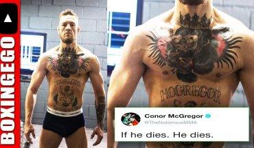 Conor McGregor camp. Going full Ivan Drago Rocky IV.