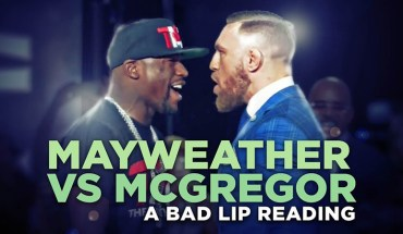 Mayweather McGregor bad lip reading.
