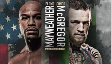 Mayweather vs McGregor New York Press Conference.