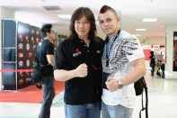 "Arnaud ""The Game"" Lepont with Muayfit Big Boss Paul Teo"